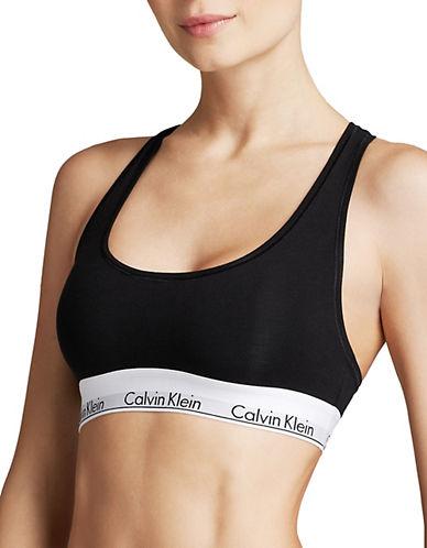 Calvin Klein Modern Cotton Bralette-BLACK-Medium