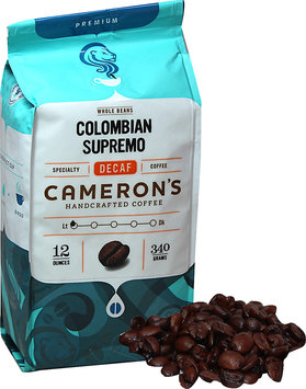 Cameron's Colombian Supremo Decaf Whole Bean Coffee-12 oz-Whole