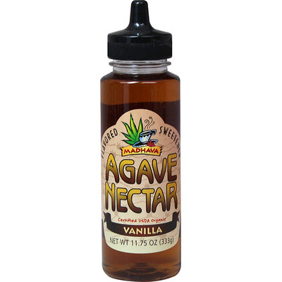 MADHAVA HONEY Organic Vanilla Agave Nectar 11.75 OZ