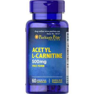 Puritan's Pride Acetyl L-Carnitine 500 mg-60 Capsules