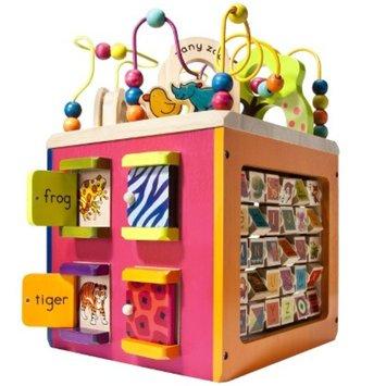 B. toys B. Zany Zoo Wooden Activity Cube