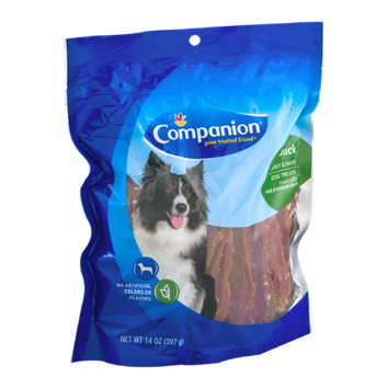 Companion Jerky Strip Dog Treats Duck