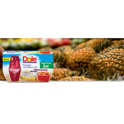 Dole Pineapple In Strawberry Gel