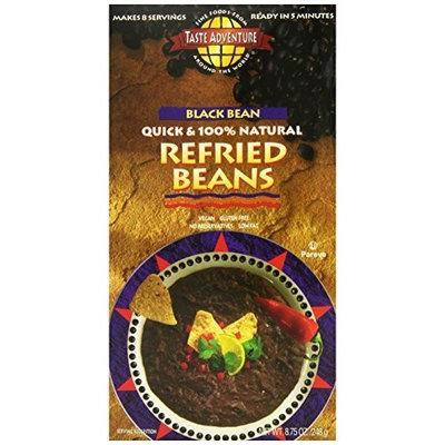 Taste Adventure Black Bean Instant Refried Beans, 8.75-Ounce Boxes (Pack of 6)