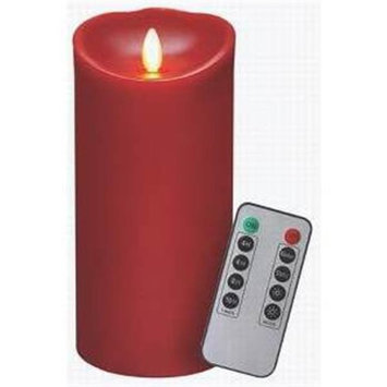 Veraflame E03569B-R Candle Red Waxflame Remote 7 in.
