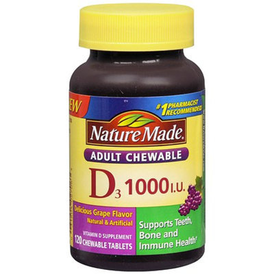 Nature Made Adult Chewable D3