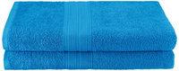 Blue Nile Mills Eco Friendly 2-Piece 100% Ring-Spun Cotton Bath Sheets, Aquamarine
