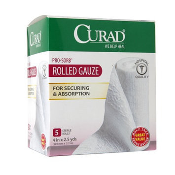 Curad Pro-Sorb Rolled Gauze Sterile Rolls 4 in x 2.5 yds (101 mm x 2.2 mm)