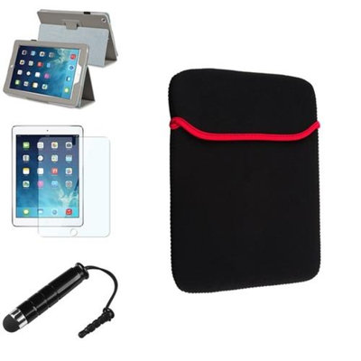 Insten INSTEN Grey PU Leather Case Stand Cover+Mini Stylus/Pouch For Apple iPad Air 5 5th Gen