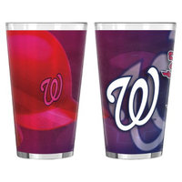 Boelter Brands MLB Nationals Set of 2 Shadow Pint Glass - 16oz