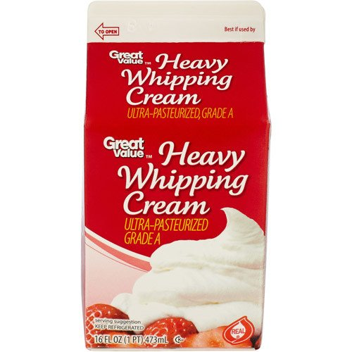 Great Value: Heavy Whipping Cream, 16 Fl Oz