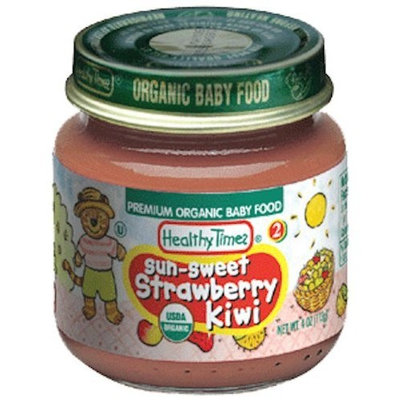 Healthy Times Organic Baby Food, Sun-Sweet Strawberry Kiwi, 4-Ounce Jars (Pack of 12)