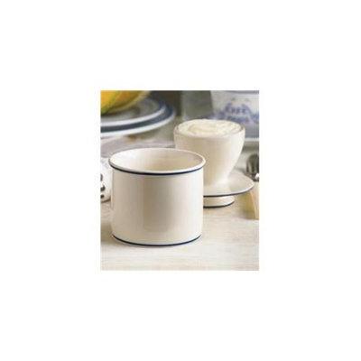L Tremain BBCWBB Le Bistro Bell Crock - White with Blue Banding