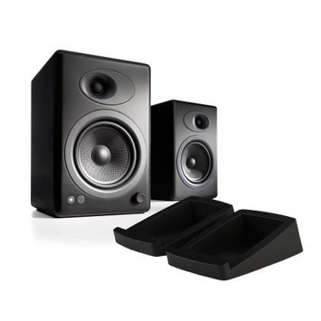 Audioengine A5 Plus Black (Pr.) with DS2 Stands 2-way Speaker System with Stands