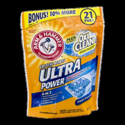 ARM & HAMMER™ Plus Oxi Clean Crystal Burst Ulta Power Detergent Power Paks