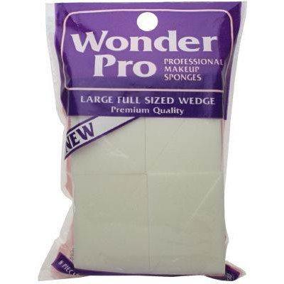 Wonder Products Wonder Professional Makeup Sponges Large Wedge #04100 - 8 Count