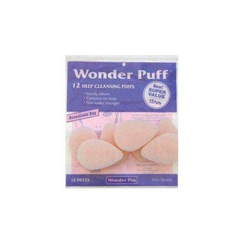 Wonder Products Wonder Puff Deep Cleansing Puffs #06300 12 Count - Super Value