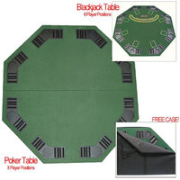 Trademark Poker Deluxe Poker & Blackjack Table Top w/ Case