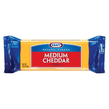 Kraft Natural Medium Cheddar Cheese Chunk 8 oz