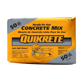 QUIKRETE 50 -lb Gray High Strength Concrete Mix 110150