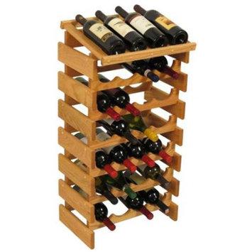 Wooden Mallet WRD46LO 28 Bottle Dakota Wine Rack with Display Top