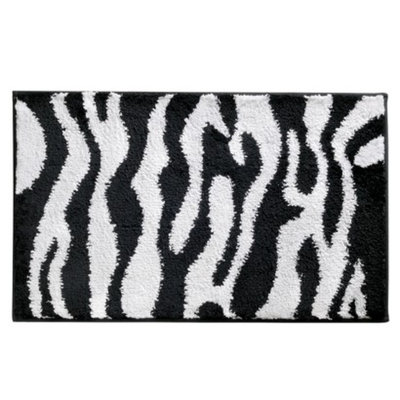 Interdesign Zebra Bath Rug - Black/White (34x21