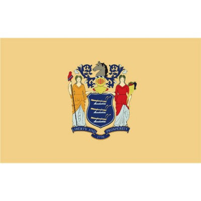 Annin New Jersey State Flag - 3' x 5'