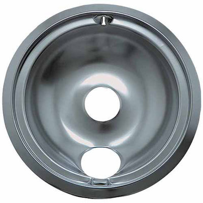 Range Kleen 1 Large Drip Bowl, Style B fits Plug-in Electric Ranges GE/Hotpoint/Kenmore/RCA, Chrome