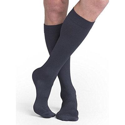 Sigvaris Midtown Microfiber 821CSSM93 15-20 mmHg Closed Toe Mens Calf Small Short - Steel Grey