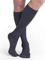 Sigvaris Midtown Microfiber 821CLLM93 15-20 mmHg Closed Toe Mens Calf Large Long - Steel Grey
