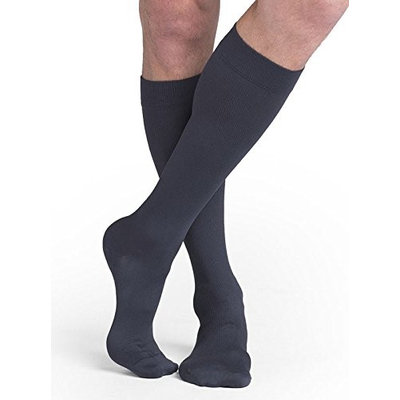 Sigvaris Midtown Microfiber 822CXLM93 20-30 mmHg Closed Toe Mens Calf Extra Large Long - Steel Grey