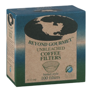 Beyond Gourmet Unbleached Coffee Filters Basket Style - 100 CT