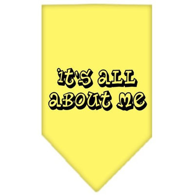 Mirage Pet Products 6644 SMYW Its All About Me Screen Print Bandana Yellow Small