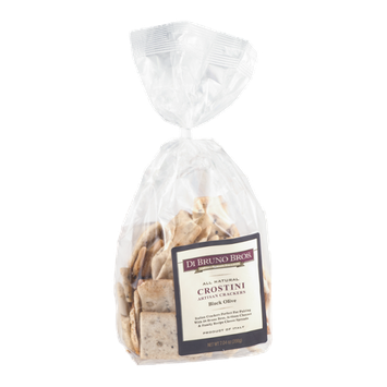 Di Bruno Bros. All Natural Crostini Artisan Crackers Black Olive
