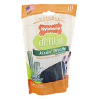Nylabone Daily Dental Kissin' Breath! Natural Chews - 10 CT