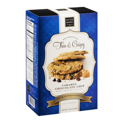 Salem Baking Co. Delightfully Thin & Crispy Cookies Caramel Chocolate Chip