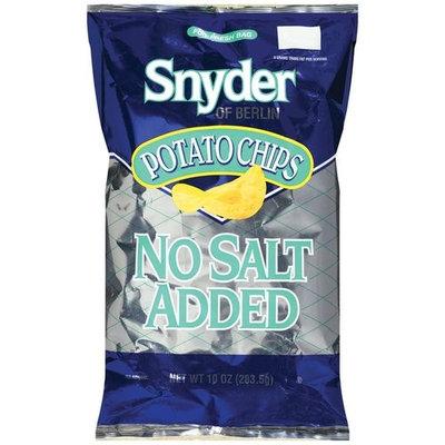 Snyder of Berlin No Salt Added Potato Chips, 10 oz