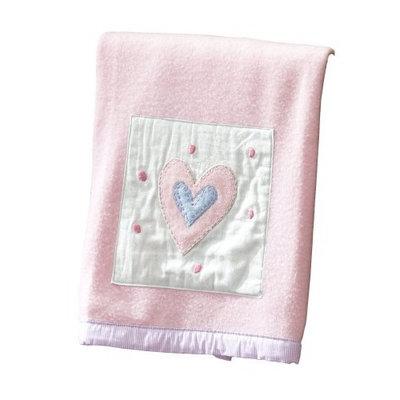 Sumersault Fun Faces Blanket - Pink