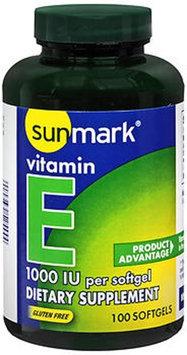Sunmark Vitamin E Softgels, 1000 IU, 100 Caplets by Sunmark