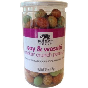 Far East Foods Soy and Wasabi Cracker Crunch Peanuts, 8.4 oz