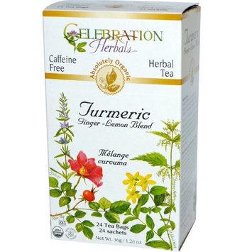 Celebration Herbals Organic Turmeric Tea Ginger Lemon 24 Tea Bags