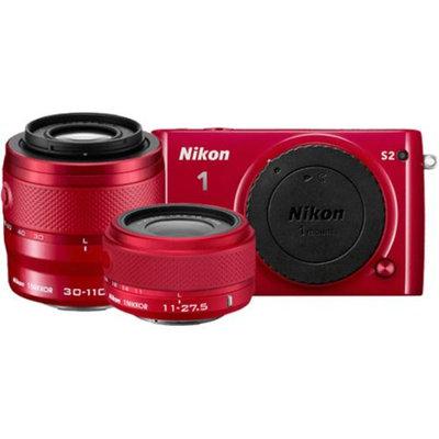 Nikon 1 S2 Digital Camera with 11-27.5mm & 30-110mm VR Lens (Red)