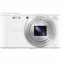Sony White DSC-WX350/W Digital Camera with 18.2 Megapixels and 20x Optical Zoom