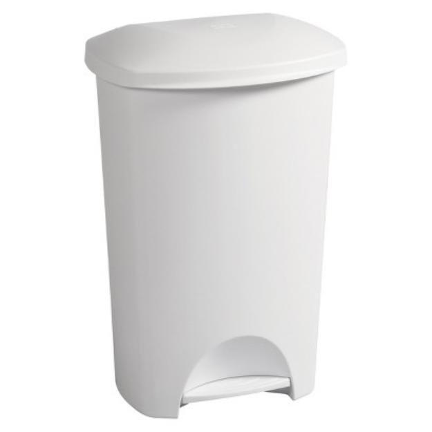 Sterilite 44 Qt./11 gal. Step-On Wastebasket - White