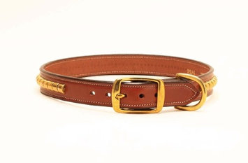 Tory Leather Leather Clinchers Dog Collar