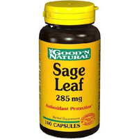Good 'N Natural Sage Leaf 285mg - 100 caps,(Good'n Natural)