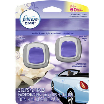 Febreze Car Vent Clips Vanilla & Moonlight Air Freshener