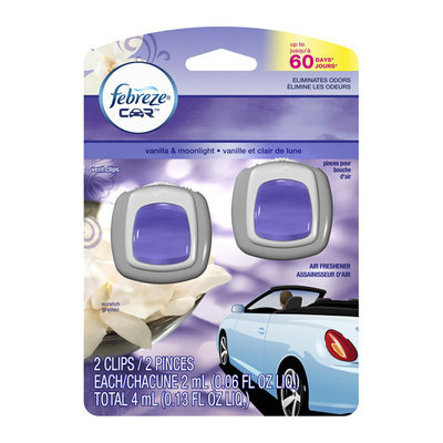 Febreze Car Vent Clips Vanilla & Moonlight Air Freshener