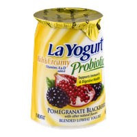 La Yogurt Probiotic Rich & Creamy Lowfat Yogurt Pomegranate Blackberry