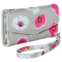 Merona Floral Cell Phone Wallet with Removable Wristlet Strap - Gray
